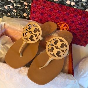 Tory Burch Miller square toe sandals